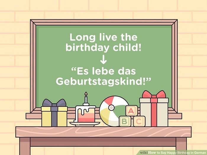 تبریک تولد به کودک با زبان آلمانی