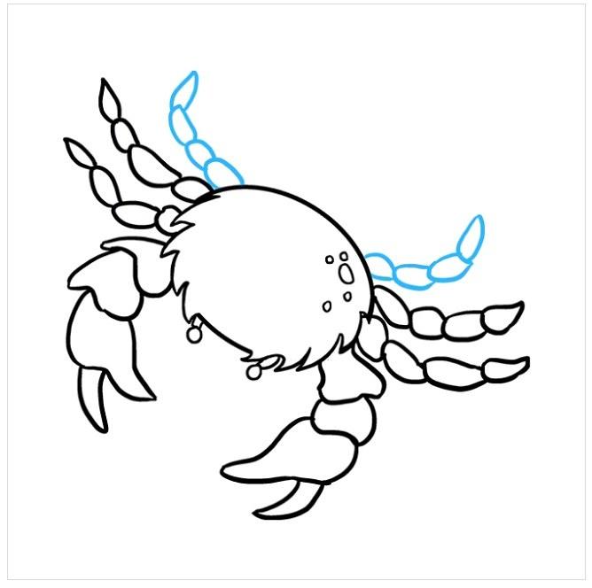 نقاشی خرچنگ مرحله هشتم