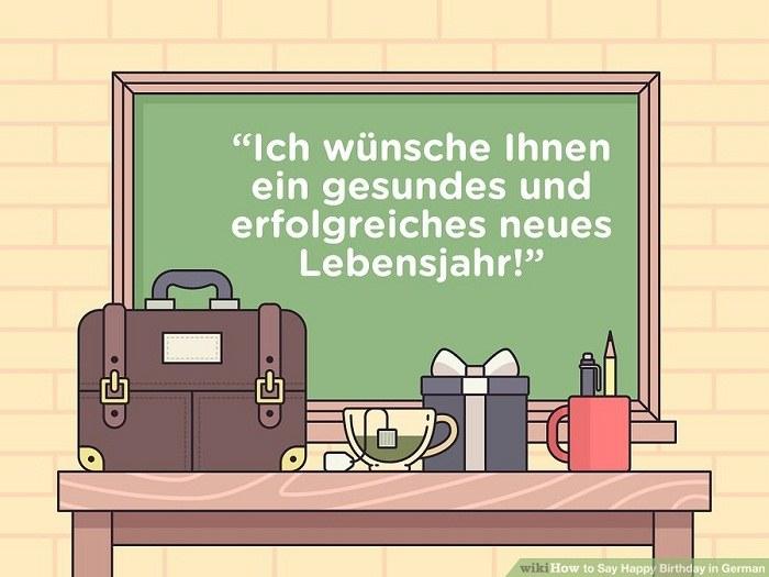 تبریک تولد رسمی آلمانی
