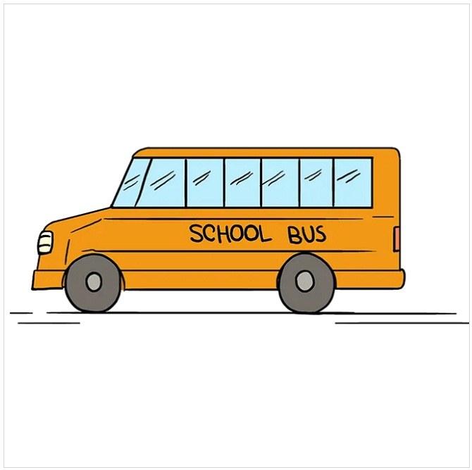 رنگ آمیزی نقاشی اتوبوس مدرسه