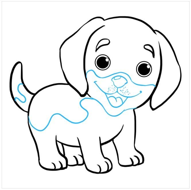 نقاشی توله سگ پاپی مرحله نهم