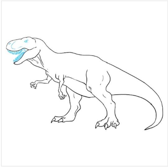 یادگیری نقاشی دایناسور برای بچه ها مرحله نهم