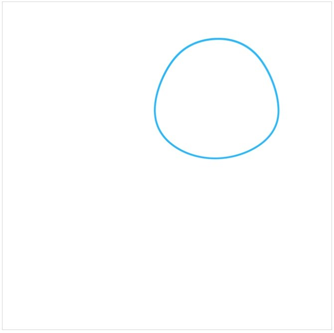 آموزش نقاشی سگ پاکوتاه مرحله اول