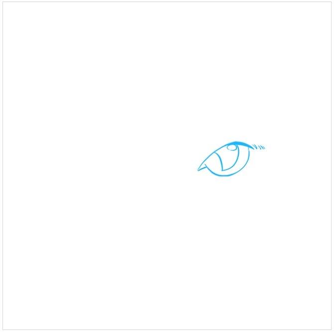 آموزش نقاشی چشم های گربه مرحله اول