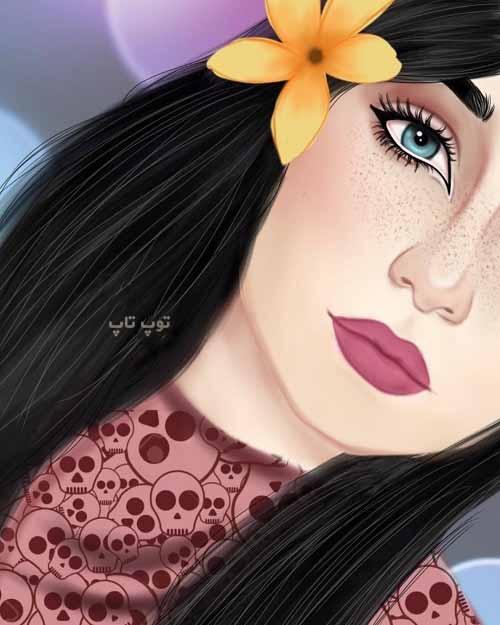 عکس پروفایل نقاشی دخترونه عروسکی