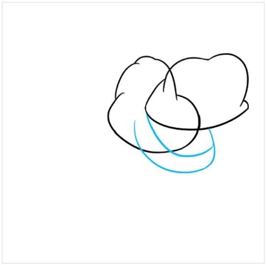 آموزش نقاشی کودکانه کرگدن مرحله سوم