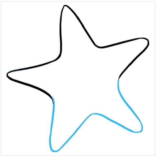 نقاشی کودکانه ستاره دریایی
