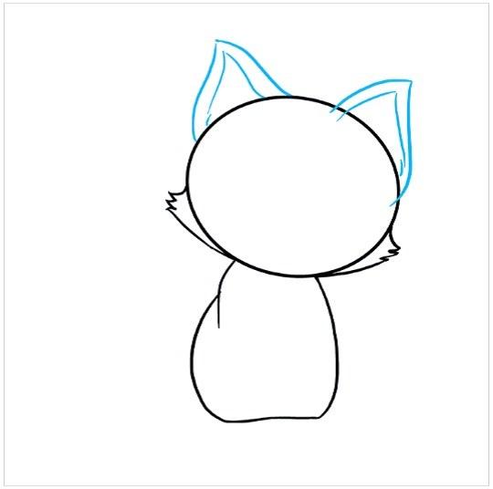 آموزش نقاشی کودکانه بچه گربه مرحله چهارم
