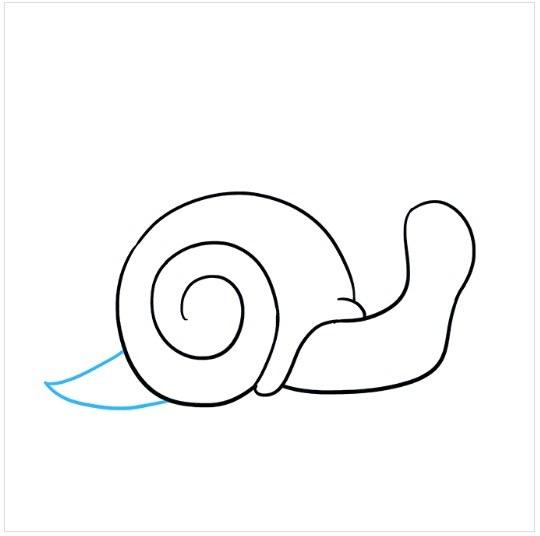 آموزش نقاشی آسان حلزون مرحله چهارم