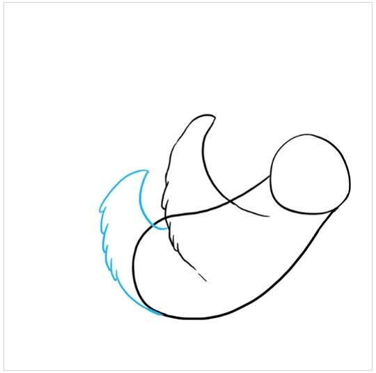 آموزش نقاشی تنبل درختی مرحله چهارم