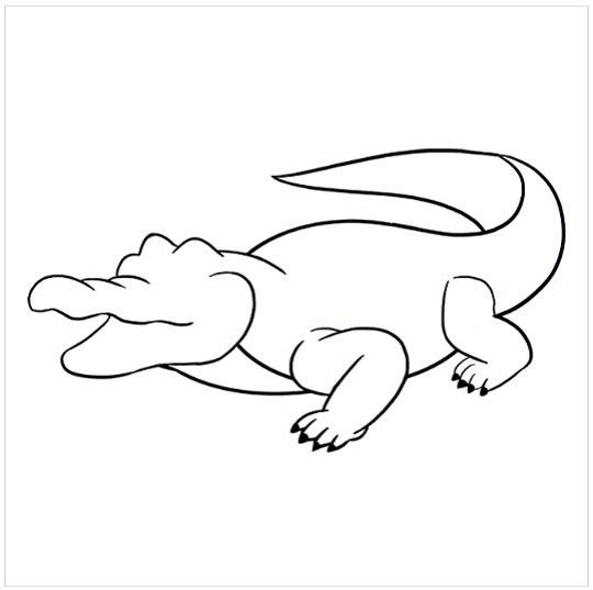 آموزش نقاشی کودکانه تمساح مرحله هفتم