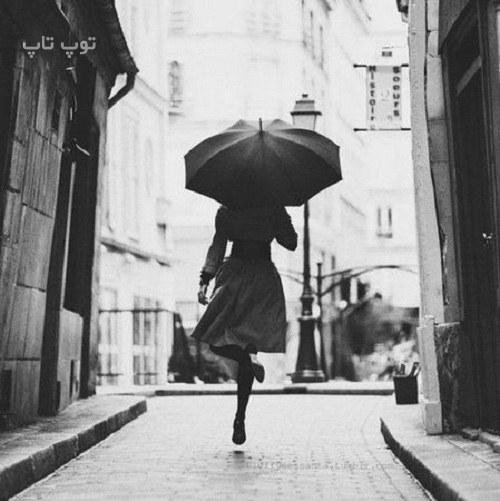 متن درباره باران و چتر