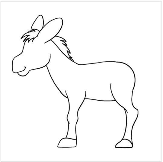 آموزش نقاشی الاغ برای بچه ها مرحله هفتم