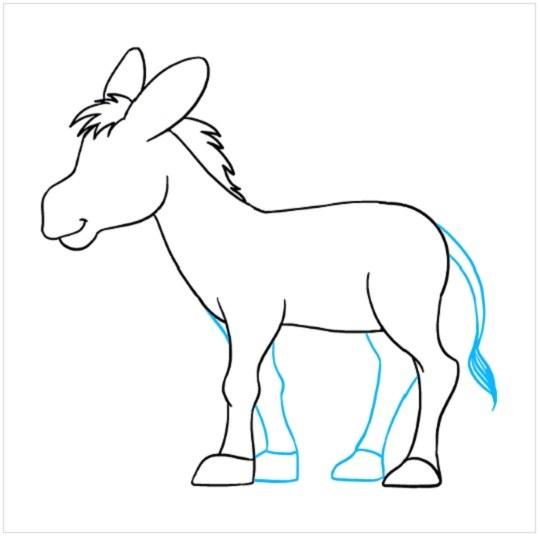 آموزش نقاشی الاغ مرحله هشتم