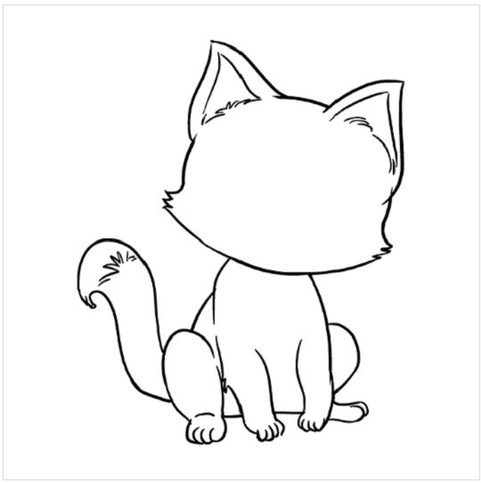 آموزش نقاشی بچه گربه مرحله هشتم