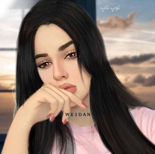 عکس نقاشی دخترونه گریه دار فانتزی