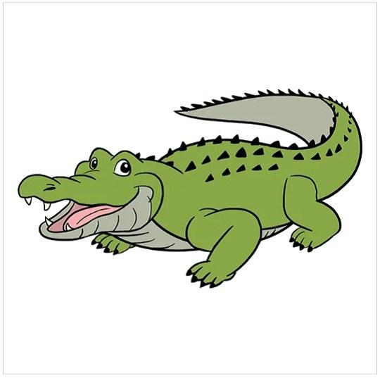 رنگ آمیزی نقاشی تمساح