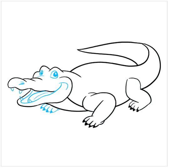 چگونگی کشیدن نقاشی تمساح مرحله هشتم