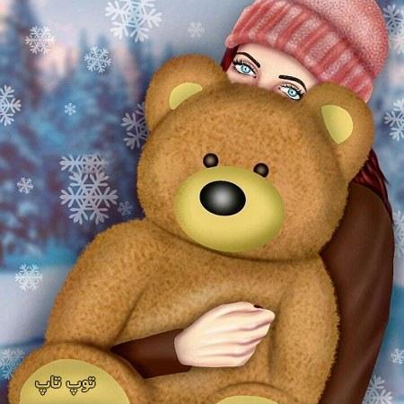 دخترونه با خرس