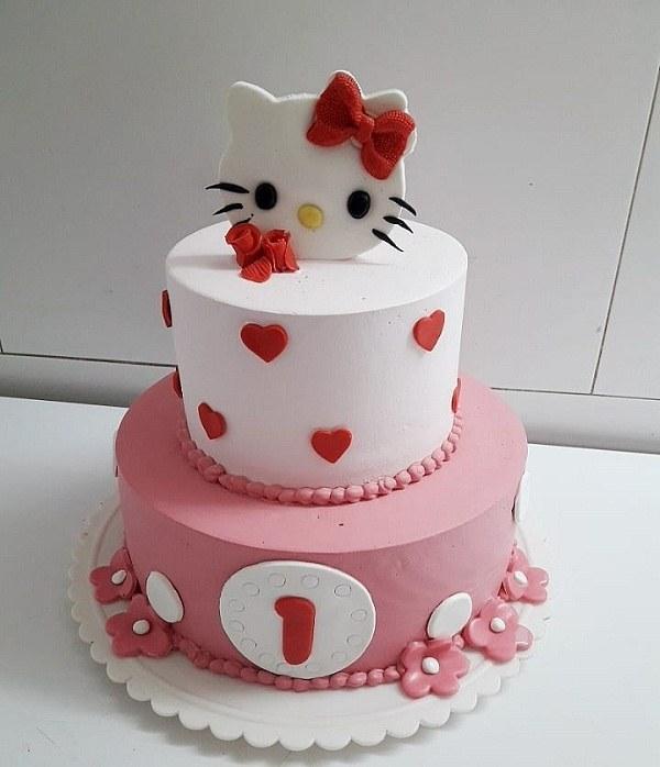 عکس کیک تولد دخترانه 1 ساله