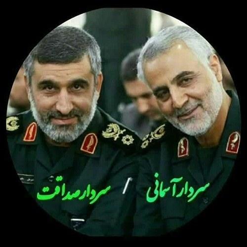 عکس پروفایل سردار سلیمانی و سردار حاجی زاده