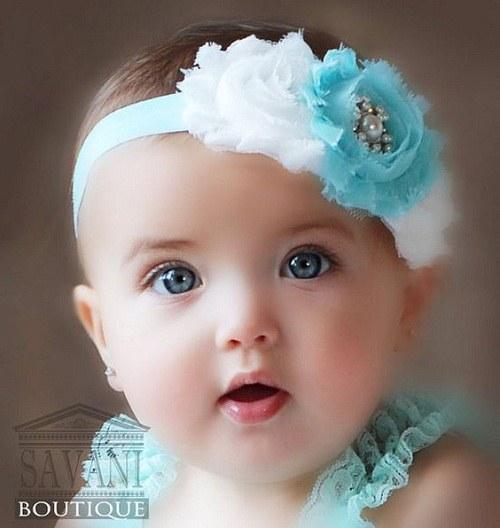 عکس نینی دختر با چشم های رنگی و زیبا