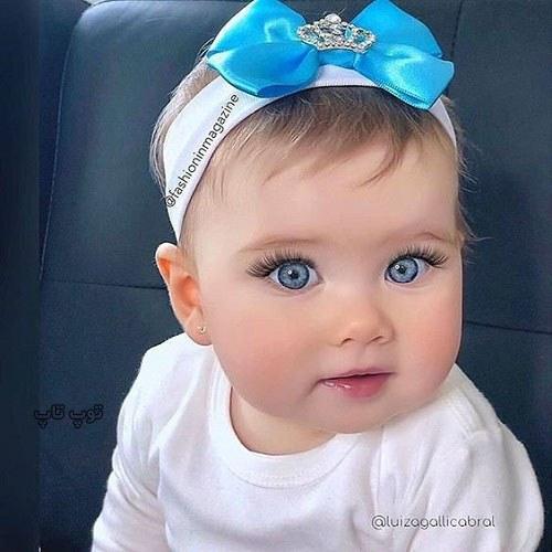 نی نی دختر خوشگل چشم آبی