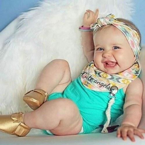 عکس نی نی دختر خوش خنده و تو دل برو