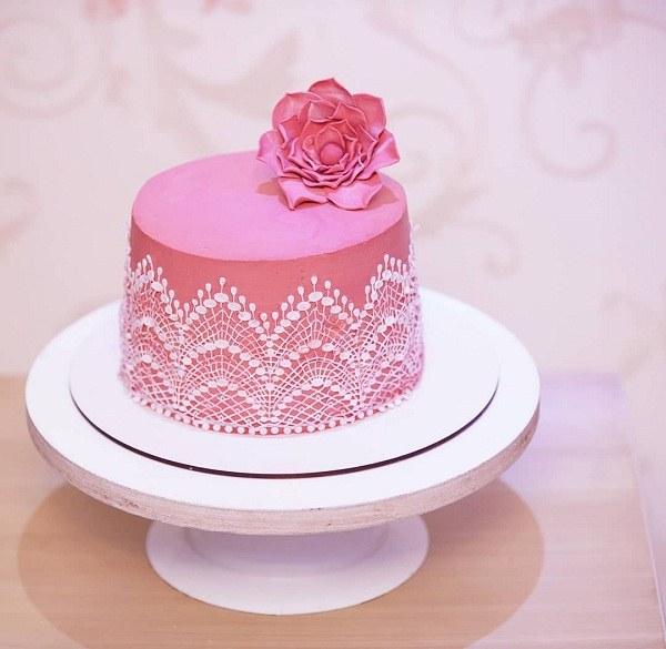 عکس کیک تولد دخترانه ساده