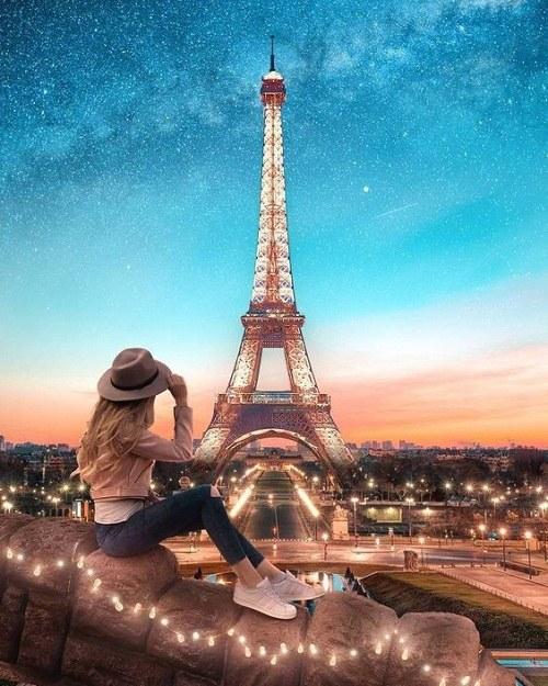عکس برج ایفل دخترونه مناسب برای والیپر