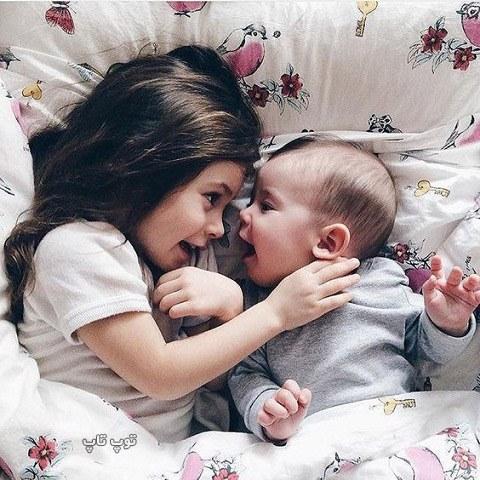 عکس خواهر برادری از بچه های خوشگل