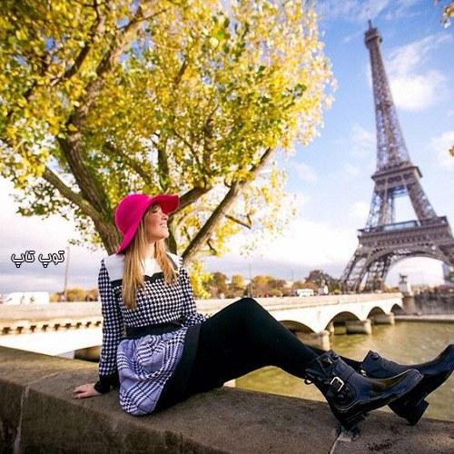 عکس پروفایل برج ایفل دخترانه صورتی