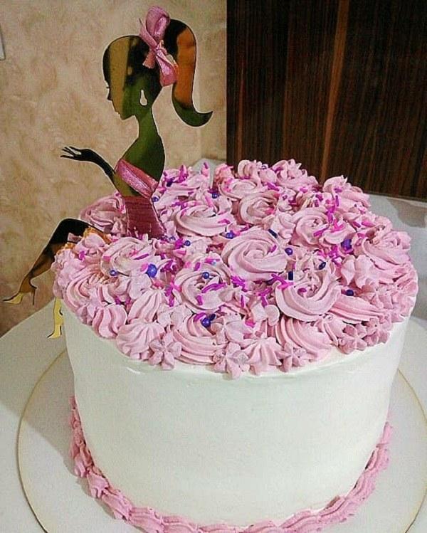 عکس کیک تولد دخترانه نازنازی