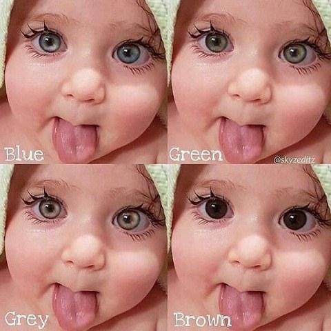 بچه کوچولو های بامزه با چشم های رنگی