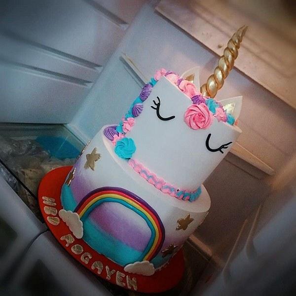 عکس کیک تولد دخترانه دو طبقه