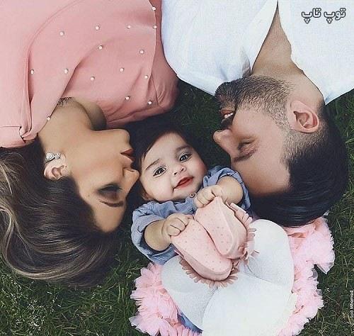 عکس نینی خوشگل با پدر مادرش