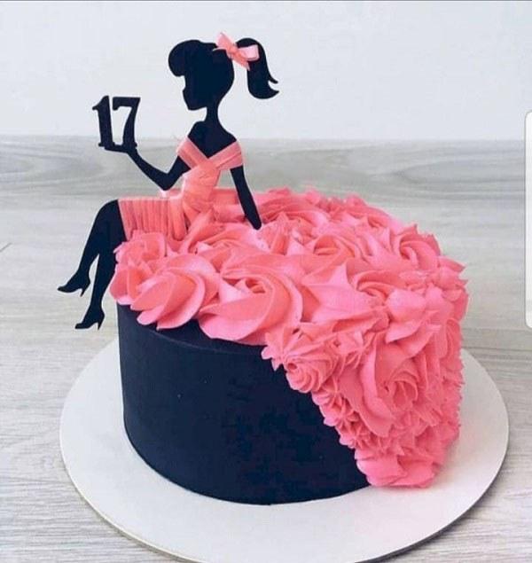 کیک تولد دخترانه 17 ساله