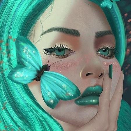 دخترونه فانتزی عکس پروفایل