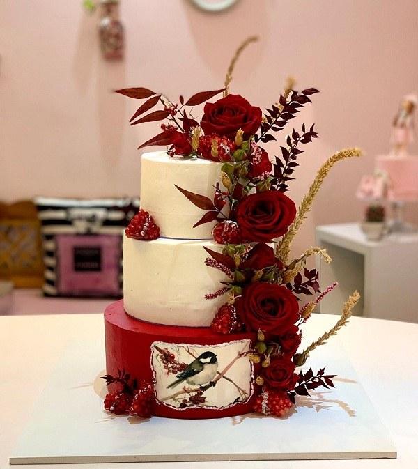 کیک تولد دخترانه پاییزی