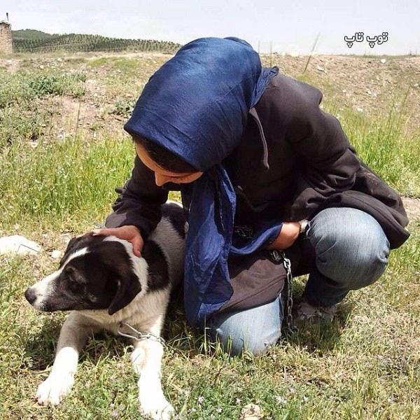 عکس حمایت دختر ایرانی از حیوانات