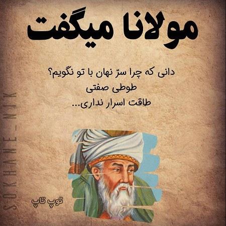 سخن بزرگان مولانا متن با عکس نوشته