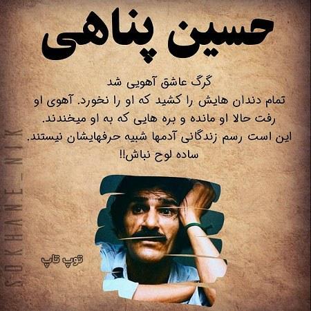 عکس نوشته سخن بزرگان حسین پناهی