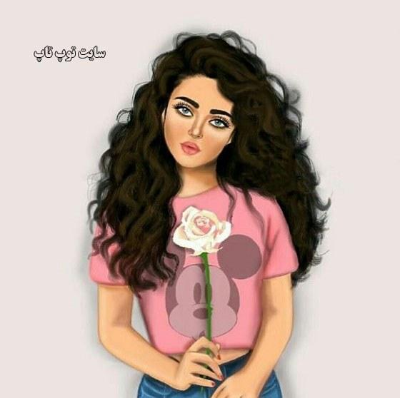عکس نقاشی دخترونه عروسکی جدید