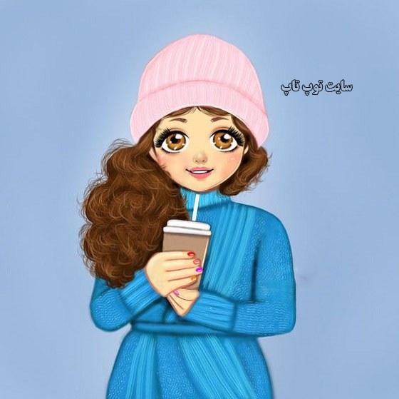 عکس نقاشی دخترونه قشنگ واسه پروفایل تلگرام