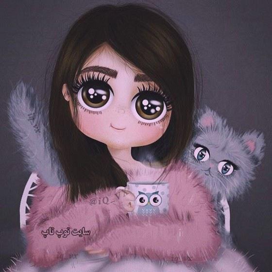 تصویر نقاشی دخترونه خاص و بانمک
