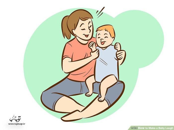 چه کنیم تا کودک بخندد