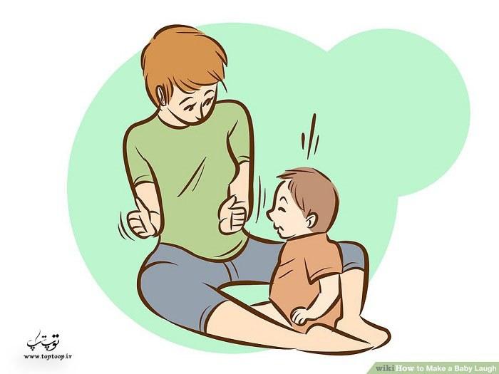 چطوری یک کودک را وادار به خنده کنیم