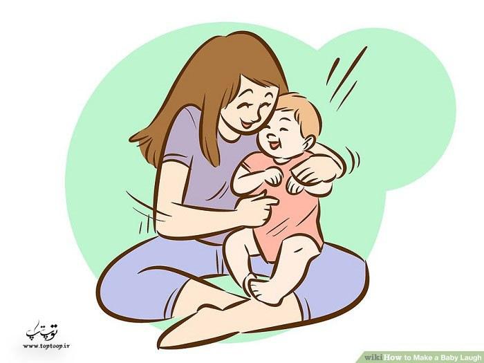 چه کار کنیم تا کودک بخنده