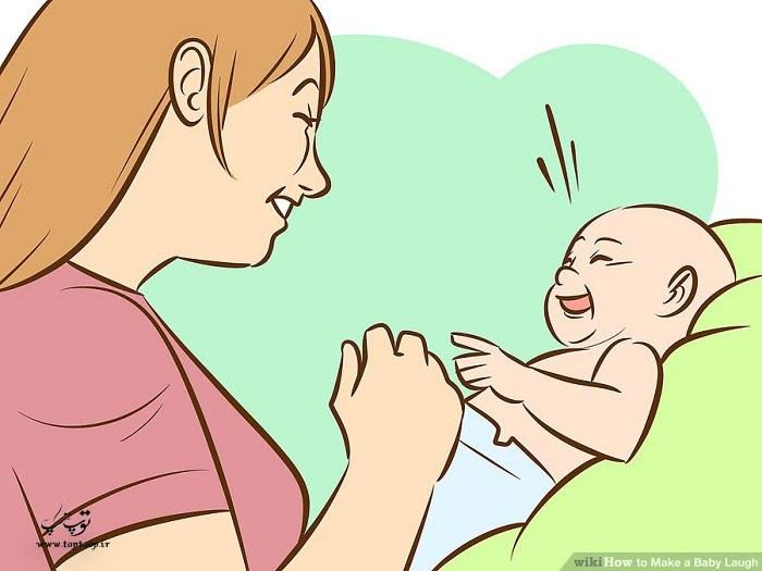 چگونه کودک خود را بخندانیم