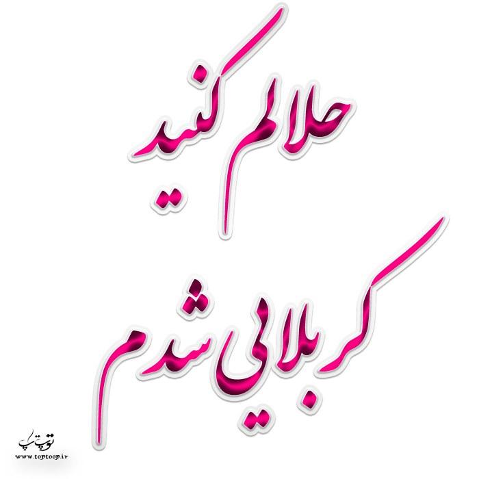 عکس نوشته حلالم کنید کربلایی شدم + متن